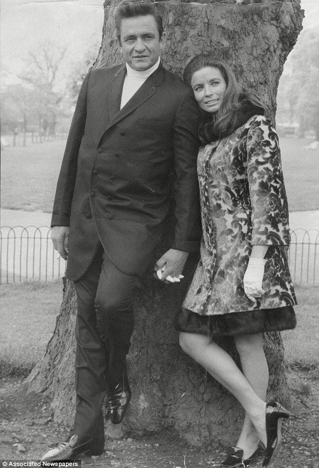 The Man in Black: Johnny Cash and wife, singer June Carter Cash, in Kensington in 1968