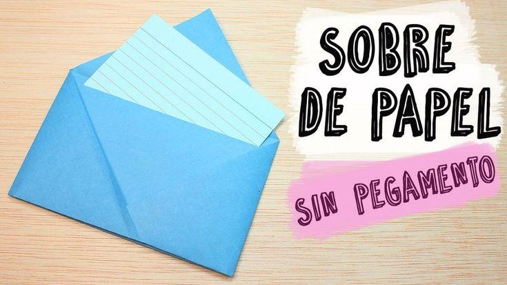 La forma más sencilla de hacer sobres de papel