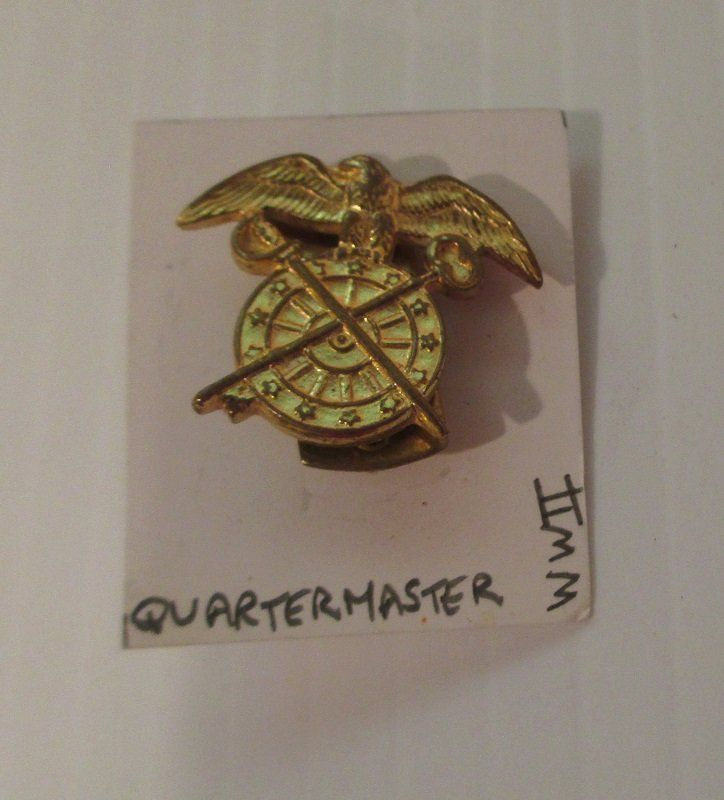 U.S. Army Quartermaster lapel pin. Stated to be WWII time frame ...
