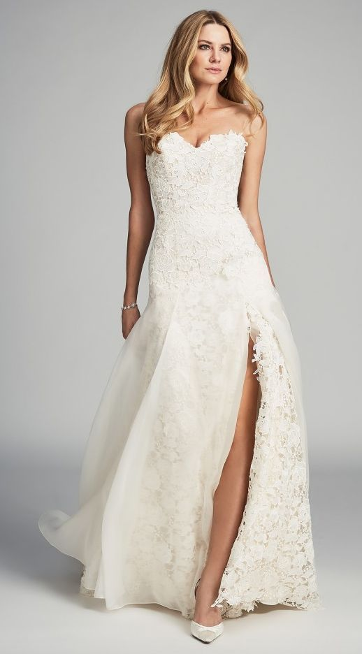 Chic Strapless Sweetheart Wedding Dress With Elegant Featured Caroline Castigliano