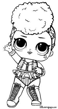 Кукла ЛОЛ Independent Queen чёрно-белая. | Раскраски ...