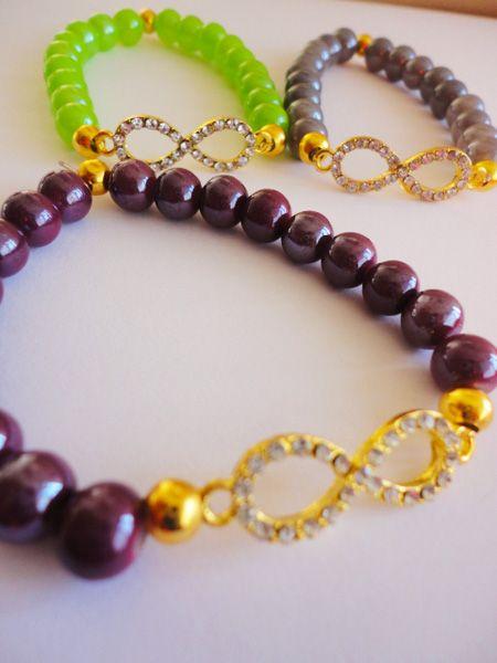 PULSERAS CONECTOR INFINITO #venta #joyeria #semanarios #collares #pulseras #moda #oro #compra #bisuteria #bracelet #fashion #accesories #USA