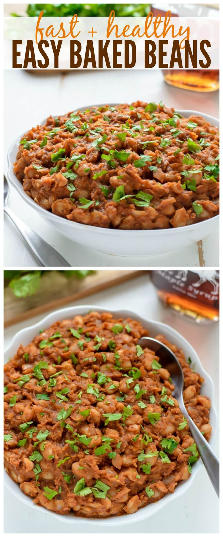 Easy Baked Beans made of healthy, real ingredients that are ready to go in only 30 minutes! www.wellplated.com | @wellplated