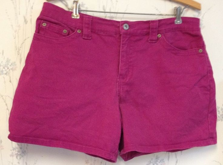 Shorts Women's Sexy Hot Pants Burgundy Maroon Size 8 Cotton Spandex Faded Glory #FadedGlory #CasualShorts