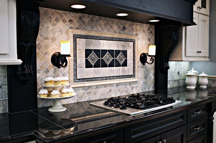 Claros Silver Travertine with Metal Accent Backsplash ...