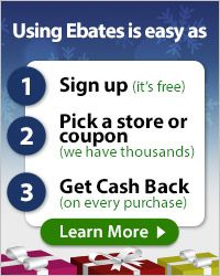 If you are not signed up for ebates and plan to do Christmas shopping online you are missing out on free money....literally....they send you a check in the mail just for navigating through their page. For example, if you are shopping the awesome deals online at Kohl's, you will get 6% back!!!! No filling out rebates....just sign up and it happens automatically!