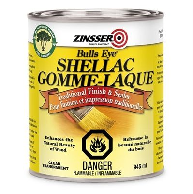 Zinsser 946ml Bulls Eye® Clear Shellac Finish and Sealer