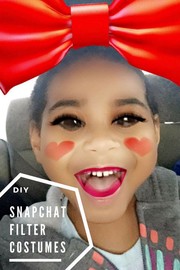 DIY SnapChat Filter Costumes Halloween