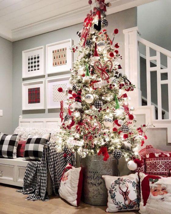 26 Salas Con Arbol De Navidad Modernas 2019 Manualidades