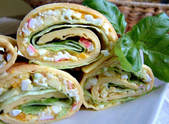 Qchenne-Inspiracje! FIT blog o zdrowym stylu życia i zdrowym odżywianiu. Kaloryczność potraw. : Kukurydziane tortille z avocado, paluszkami krabow...