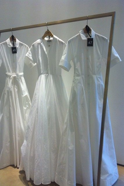 The Wedding Shirt - Jil Sander's iconic white shirting is reinvented by Raf Simons as a wedding pièce de resistance. The result is beautifully romantic.