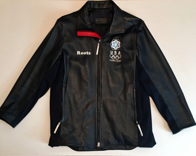 RARE Roots USA Olympic Team 2006 Leather Awards Jacket Blazer/Coat Canada | eBay