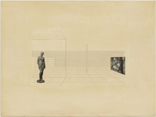 sixtensason:  Ludwig Mies van der Rohe. Row House with Interior Court Project, Interior perspective. after 1938