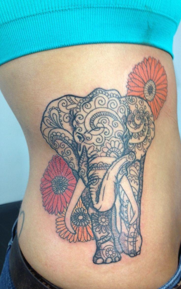 Elefante con flores Dalias