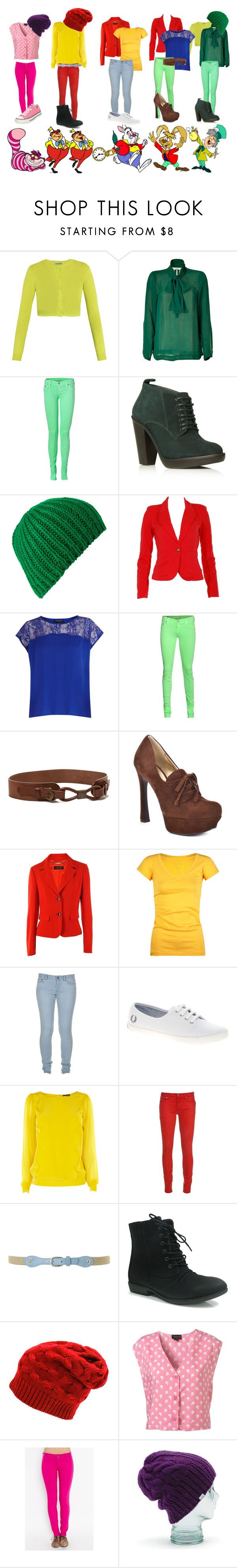 """""""Alice In Wonderland <3"""" by graciefm ❤ liked on Polyvore featuring Tomas Maier, By Malene Birger, True Religion, Carvela, VILA, Warehouse, Surface To Air, GUESS, Strenesse and Full Tilt"""