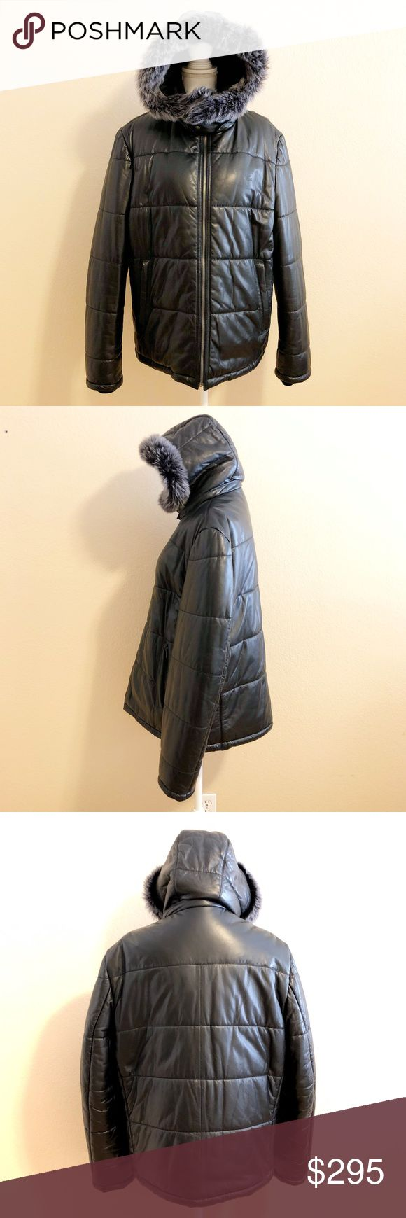Lacoste | Men's Leather Down Jacket 🔹Lacoste, Men's, Leather, Down Jacket  🔹Detachable hood with fur trim  🔹Full zip front  🔹Two front zippered waist pockets  🔹Black  🔹Leather with down filling  🔹Size US Men's Extra Large; 56 DE  🔹Excellent used condition  🌀Bundle to Save 20% 💭Make an offer! Lacoste Jackets & Coats Puffers