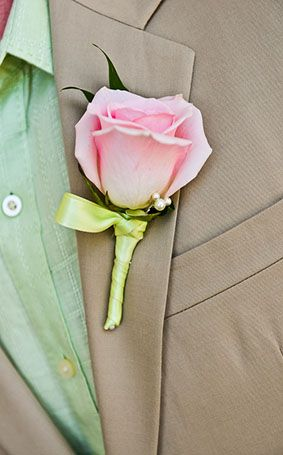 We love boutonnieres that sneak in a Hidden Mickey #Disneyside #rose