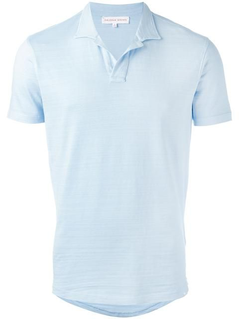 ORLEBAR BROWN plain polo shirt. #orlebarbrown #cloth #shirt