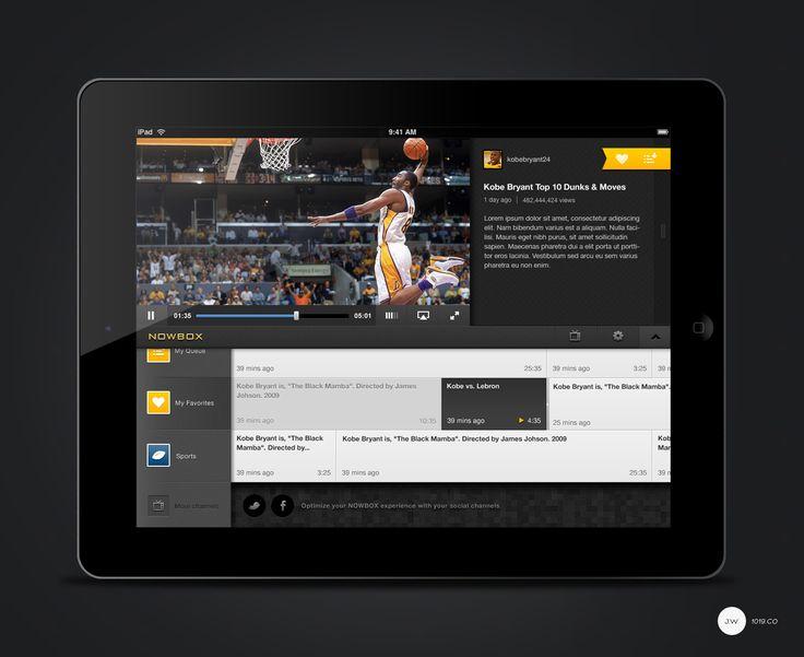 apple, design, ios, iPad, User Interface, inspiration, Nowbox media player