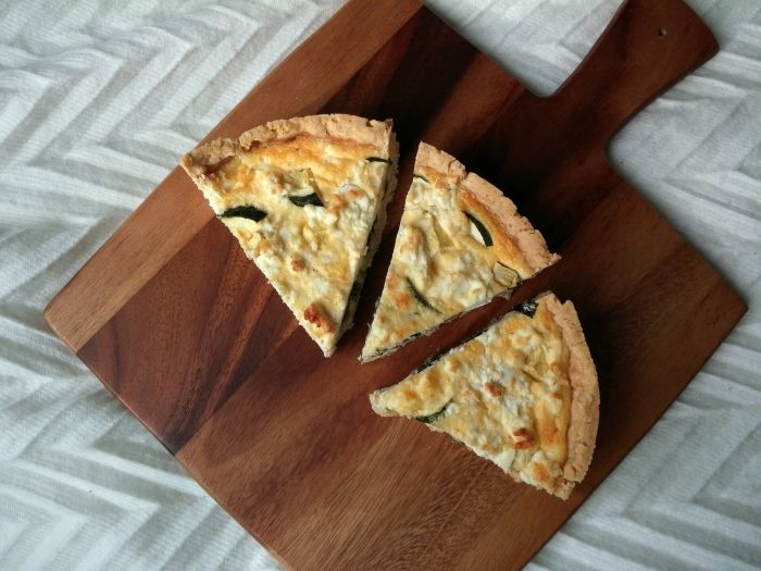 Glutenvrij quiche met spinazie, courgette en feta | Stories of a coeliac
