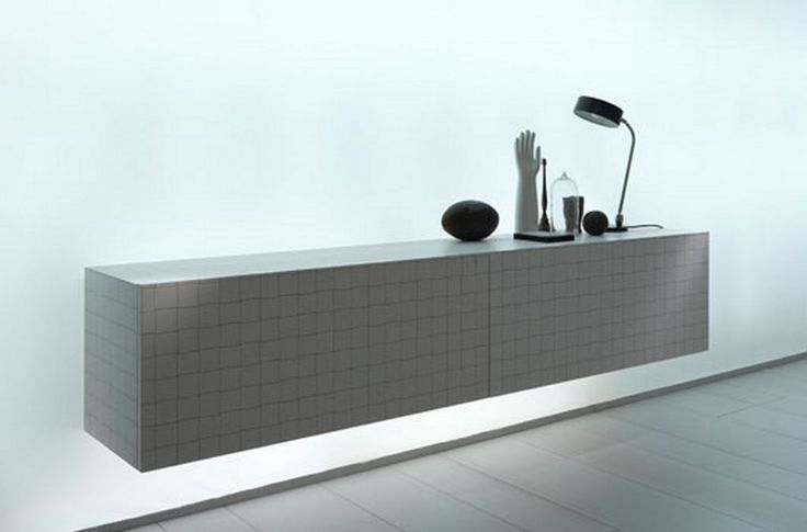 Horizontal Black And White Minimalist Sideboard. Find This Pin And More On Modern  Ottomans, Benches ...