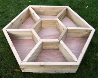 Extra Large 90Cm X 80Cm Hand Made Wooden Hexagonal Herb 400 x 300