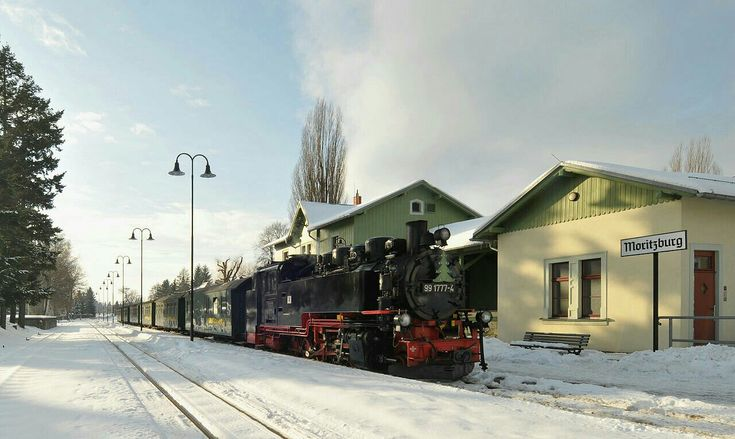 This Steam locomotive, No. 991777-4, was built in 1953 by VEB Lokomotivbau Karl Marx Babelsberg (LKM) in Potsdam-Babelsberg, Brandenburg, Germany. The steam locomotives of DR Class 99.77-79 were ordered by the Deutsche Reichsbahn in East Germany after World War II. They were narrow gauge locomotives with a 750mm rail gauge and built for the narrow gauge lines in Saxony. The locomotives were largely identical to the DRG Class 99.73–76 standard locomotives built in the 1930s. Today the…