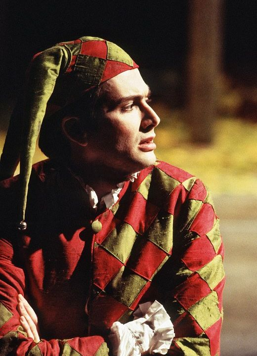 David Tennant as Touchstone in the RSC's 1996 production of 'As You Like It'