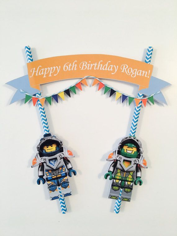 Lego Nexo Knight personalised cake bunting by HomemadeBirthdays