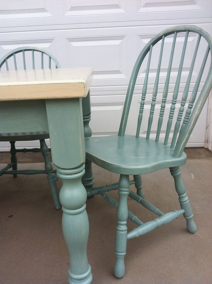 33 best images about ascp duck egg blue on pinterest for Painted kitchen chairs