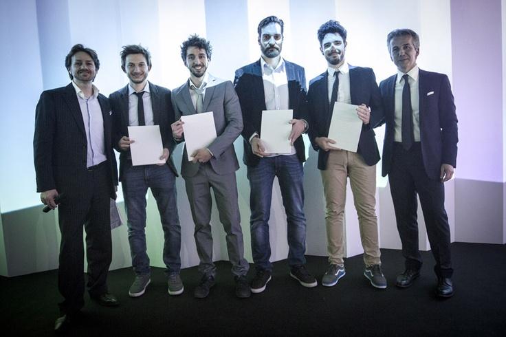Federico Elli, Marco Febbo, Stefano Filipuzzi, Andrea Fiorito with Vittorio Pavarin (Cristlaplant Sales & Marketing Manager) and Luca Fallavena (CEO Falper Ltd.) — SuperStudio Più - via Tortona 27 Milano.
