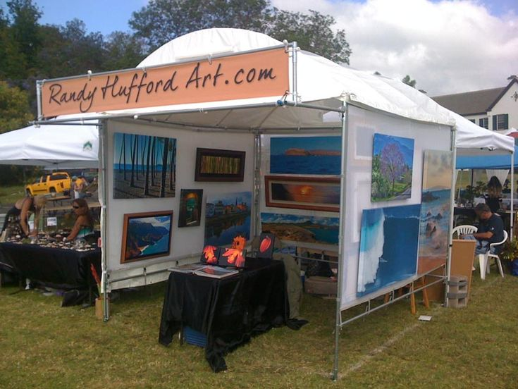 displaying paintings at a craft fair - Google Search