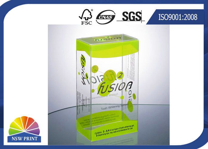China Plastic Clamshell Packaging Transparent PVC Boxes with UV Coating Eco-friendly and Recycled supplier