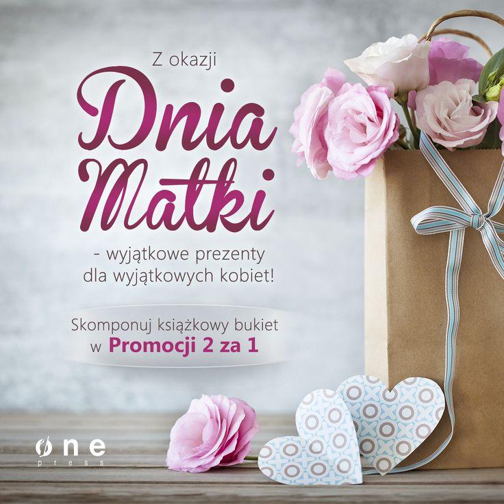 Wybieraj spośród oferty księgarni-kwiaciarni Onepress.pl. Nie musisz się ograniczać, bo co drugą książkę dostaniesz w prezencie:) Przez 2 kolejne dni - 26 i 27.05. - zapraszamy do promocji 2 za 1.   #onepress #dzienmatki #promocja #ksiazki