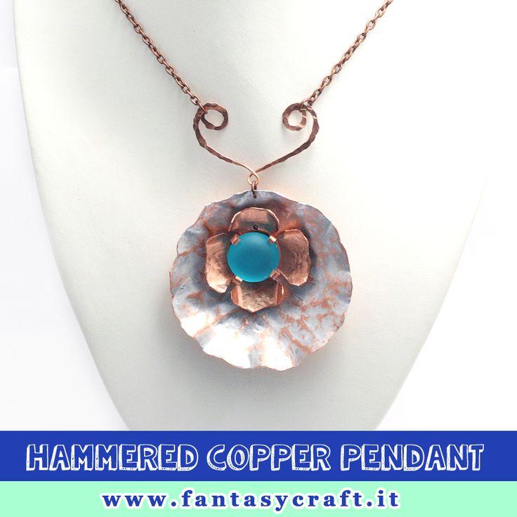 Handmade hammered pendant idea. Fantasy Craft's class. #fantasycraft