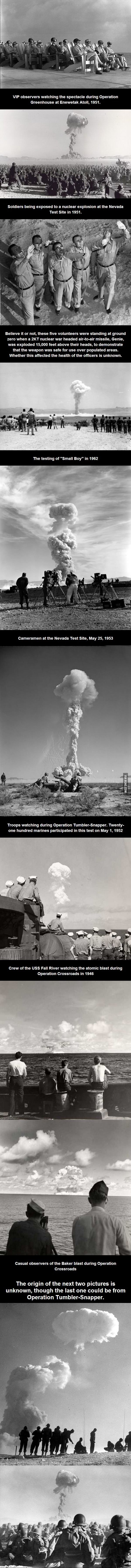 How to watch a nuclear explosion.