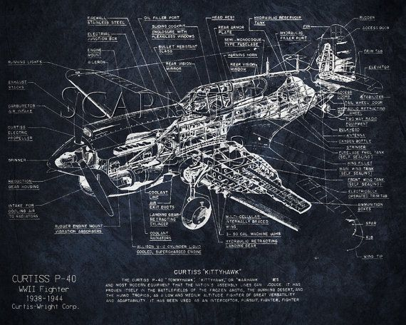 15 best blueprint art images on pinterest blueprint art aircraft curtiss p 40 wwii airplane blueprint art 8 x 10 print malvernweather Gallery