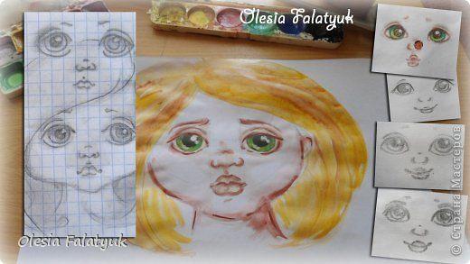 Хочу показать как я рисую мордашки своим куклам.   И хотя это будет похоже на урок, прошу не относиться к нему серьёзно,  потому что всему этому я научилась сама, и никакого художественного образования у меня к сожалению нет.   Так что это скорее обмен опытом с такими же любителями, как я сама. :)  фото 1