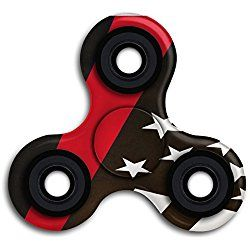 RZM YL Firefighter Flags Thin Red Line Fidget Toy Hand Spinner Stress Reducer Relieve Anxiety And Boredom ABS Plastic Metal Bearing Killing Time Toys For ADD,ADHD,Anxiety,Autism Adult And Children
