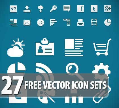 27 Free Vector Icon Sets