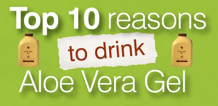 Top 10 Reasons to Drink Aloe Vera Gel  http://pinterest.com/bfhealthy/top-10-reasons-to-drink-aloe-vera-gel/
