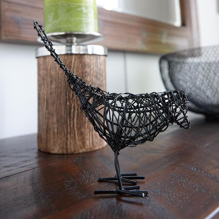 Decorative Wire Bird/Accents/Office/Home Accents|Bouclair.com