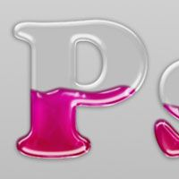 Quick Tip: Create Liquid Filled Glass Text in Photoshop | PSDtuts+ (I just like the glass effect, not the liquid part)