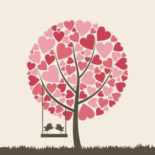 'Birds Of Love' canvas art print on sale now #WallArtPrints #Art #Kids #Love