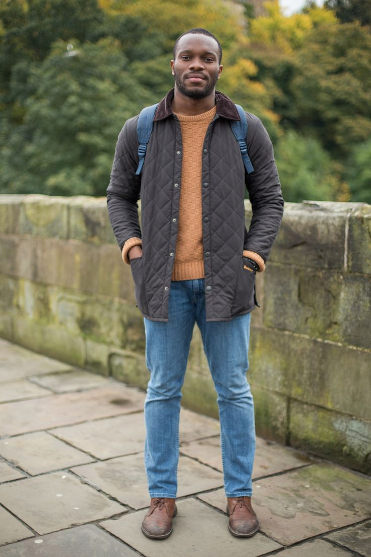 We bumped into Fewa on our recent trip to Durham - wearing his Barbour Liddesdale Quilted Jacket!