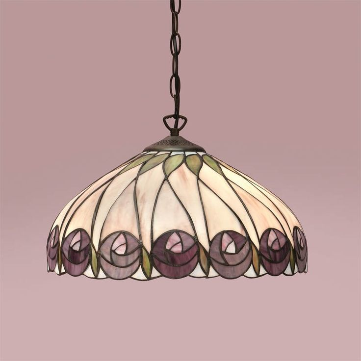Hutchinson Tiffany 1 Light Pendant Ceiling Inspired By The Mackintosh Style