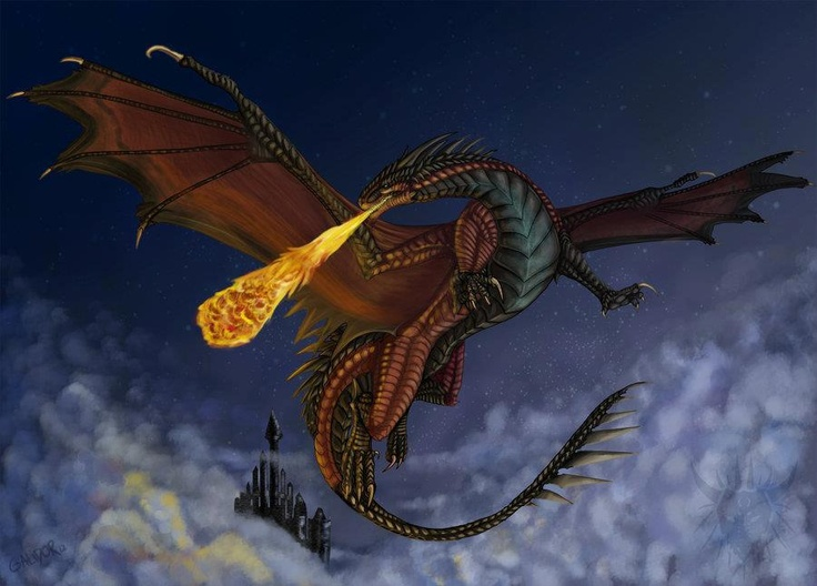 red dragon breathing fire | Dragons | Pinterest | Black ...