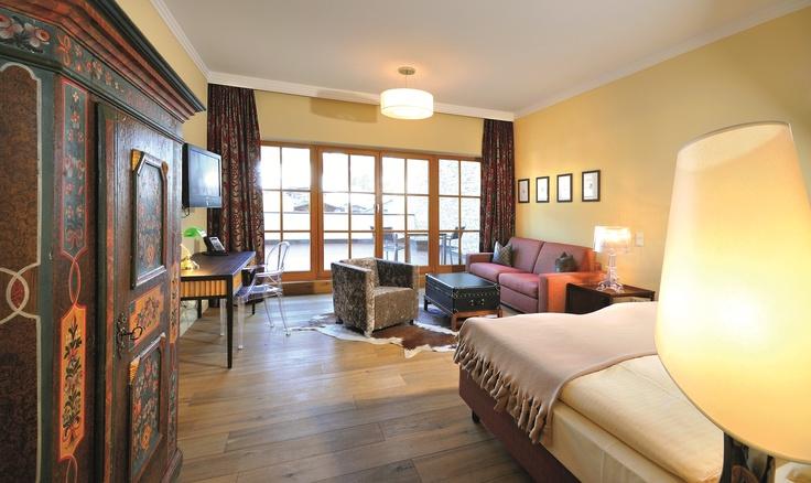 Doppelzimmer Deluxe Süd im Wellnesshotel Alpine Palace in Saalbach Hinterglemm