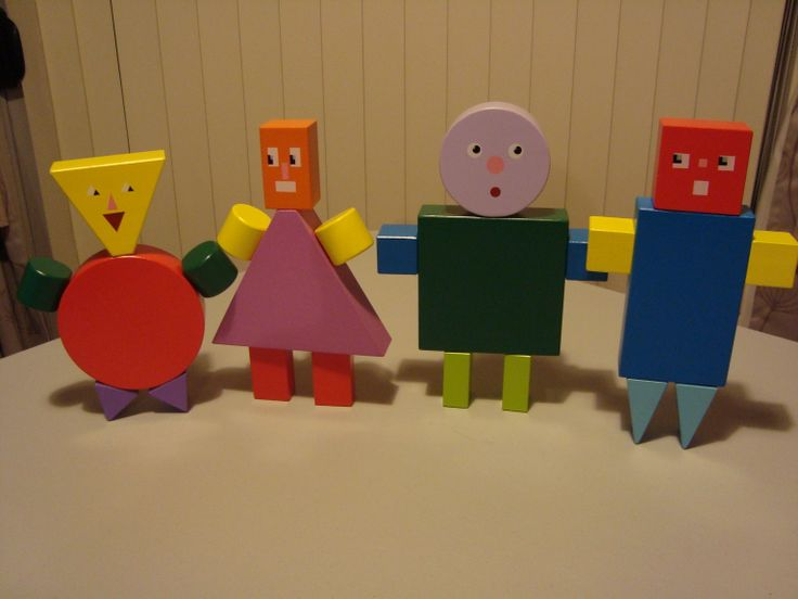 HERE'S SOME I MADE EARLIER LOL This is the Shape Kids jumbled up, the one on the left has Theresa Triangle's head, Carla Circle's body and her feet, plus Theresa Triangle's arms (as her feet) then the next one comprises Richard Rectangle's head, Theresa Triangle's body, Carla Circles arms and Richard Rectangle's legs. You get the picture?