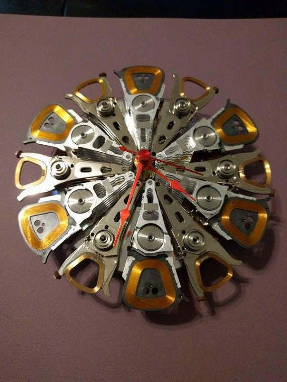 Clock made from Recycled Computer Hard Drives by UpCircuit on Etsy